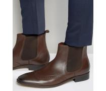 Chelsea-Stiefel im Budapester-Design aus braunem Leder Braun