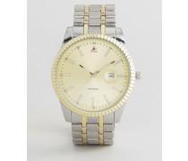 Armbanduhr in Silber und Gold Silber