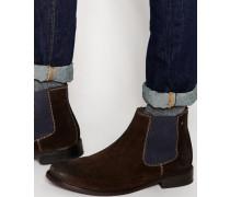 Scuttle Chelsea-Stiefel aus Wildleder Braun