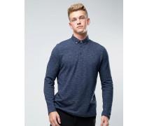 Langärmeliges Polohemd Marineblau
