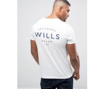 Weißes T-Shirt mit Wills-Print Weiß