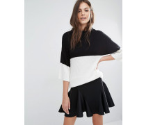 Pullover in Monochrom Mehrfarbig