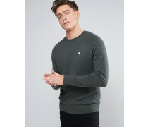 Marineblauer Muskel-Pullover mit Rundhalsausschnitt und Elch-Logo Grün