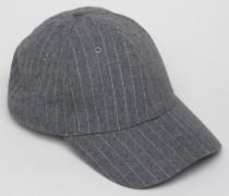Graue Baseball-Kappe mit Nadelstreifen Grau