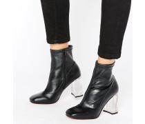 EAGLE Stiefel mit transparentem Absatz Schwarz