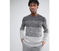 Gestreifter Pullover mit Farbverlauf Grau
