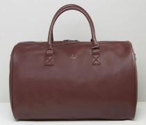 Reisetasche in Burgunderrot mit goldener Prägung Rot