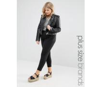Jersey-Hose mit schmalem Bein Schwarz