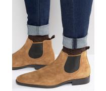 Marlown Chelsea-Stiefel aus Wildleder Bronze