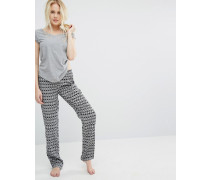 Addicted To Fraishiz Vantardiz Pyjama-Set Grau