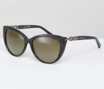 Runde Cateye-Sonnenbrille Grün
