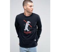 Ski Bear Schwarzes Sweatshirt mit Rundhalsausschnitt Schwarz