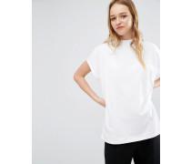 Hochgeschlossenes T-Shirt Weiß