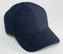 Baseball-Kappe aus Wolle Marineblau