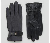 Guilford Handschuhe aus Wolle und Leder Grau