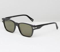 Vindal Eckige Sonnenbrille in Schwarz Schwarz