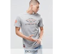 T-Shirt mit Azteken-Logo Grau