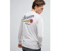 Maverick Langärmliges Shirt mit Rückenaufdruck Steingrau