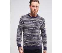 Levi's FairIsle-Pullover Marineblau