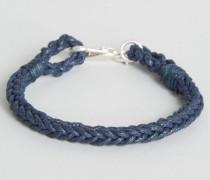Glencothe Geflochtenes Armband Marineblau
