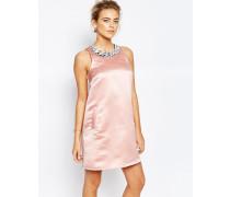 Verziertes Minikleid in A-Linie Rosa