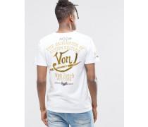 T-Shirt mit Aufdruck hinten Weiß