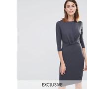 Ferrie Kleid mit gedrehter Vorderseite (Exklusiv Grau