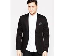 Enger Jersey-Blazer in Schwarz Schwarz
