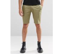 Enge elegante Shorts in Khaki Grün