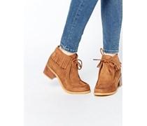 RUDY Ankle Boots mit Fransen Bronze