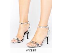 New Look Filigrane Sandaletten mit weiter Passform Silber