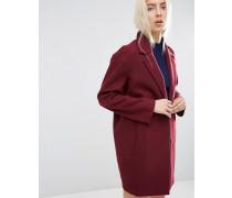 Boyfriend-Mantel in Cocoon-Passform Rot