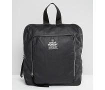 Rucksack mit Reißverschlüssen Schwarz