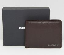 Hiresh XS Braune Geldbörse aus Leder mit Münzfach Braun