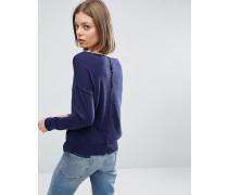 Pullover mit Knöpfen hinten Marineblau