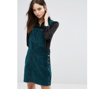 Trägerkleid aus Cord Grün