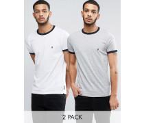 Edge T-Shirts im 2er-Set Weiß