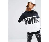 Rebel Kapuzen-Pullover mit Logo Schwarz