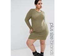 Pulloverkleid mit Wellenstrick Grün