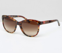 Katzenaugensonnenbrille in Schildpattoptik Braun