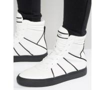 Knöchelhohe Sneaker mit Reißverschluss Weiß