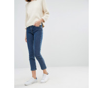Gerade geschnittene Jeans Marineblau