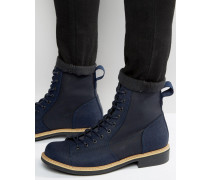Roofer Denim-Stiefel Marineblau