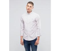 Heritage Schmales Hemd mit Streifenmuster Violett