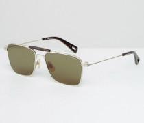 Faeroes Pilotensonnenbrille in Silber Silber