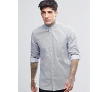 Hemd mit geometrischem Muster Weiß