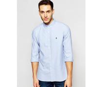 Langärmliges Oxford-Hemd Blau