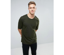 T-Shirt mit Raglan-Detail hinten Grün
