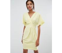 Closet Kimono-Kleid mit Überkreuz-Design Gelb