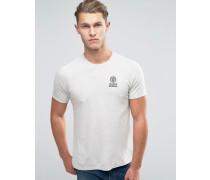 Franklin and Marshall T-Shirt mit Schriftzug und Logo Grau